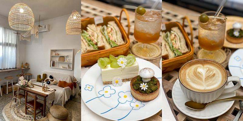 台南美食「島內移民」來登島吧,隱身巷弄的韓風咖啡廳,蘑菇甜點太療癒。|台南甜點|下午茶