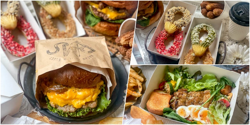 台南外帶推薦「BMS CAFE」疫情期間,窩在家吃美味袋裝厚蛋漢堡!吃吉拿棒午茶!在家也能享受咖啡廳的美好氛圍。