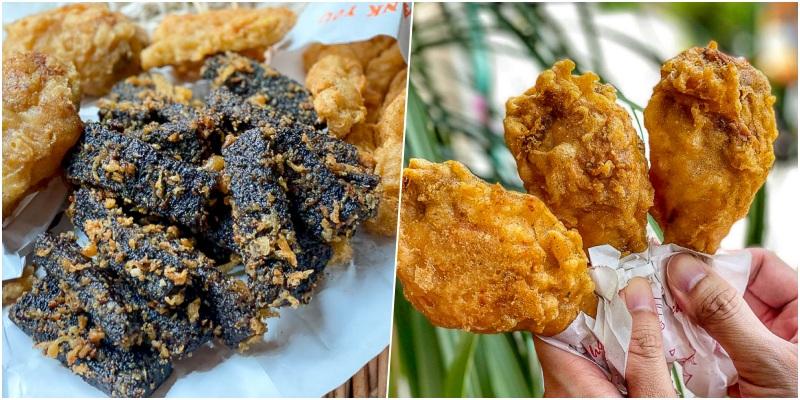 台南炸雞推薦「美家福炸雞翅(富農店)」網友也激推的必點炸米血!酥香軟Q糯米香!在地人從小吃到大的台式午茶。|富農街美食|