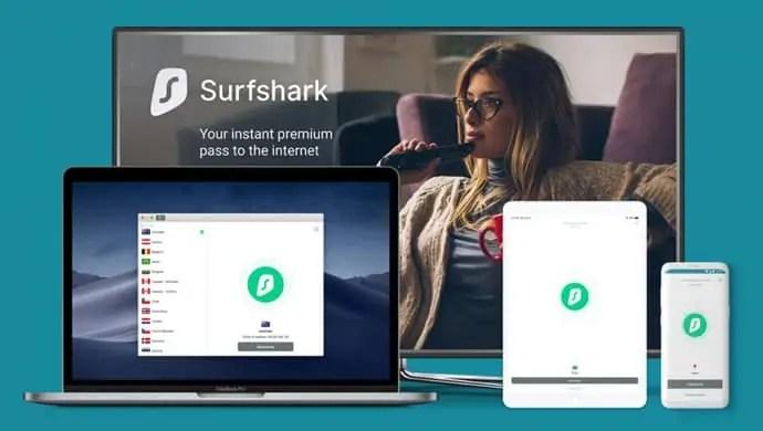 Surfshark to Stream Hulu