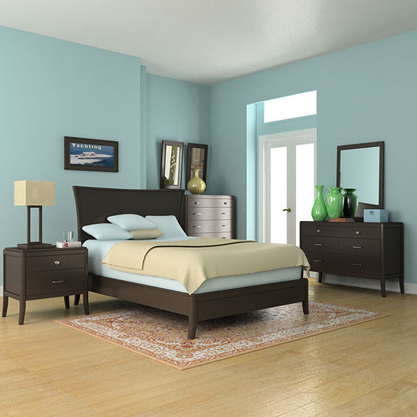 Bedroom Set 3 3D model - Furniture on Hum3D on Model Bedroom Ideas  id=86503