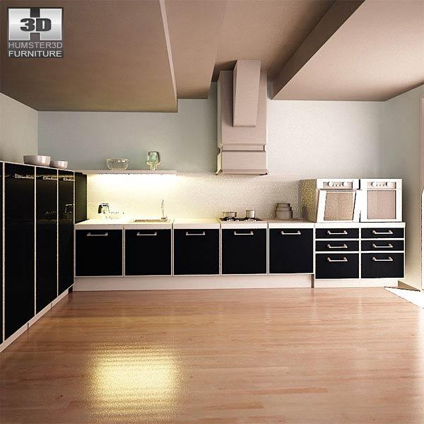 Kitchen Set I2 3D model - Furniture on Hum3D on Modern:8-Rtxafges8= Model Kitchen  id=81936
