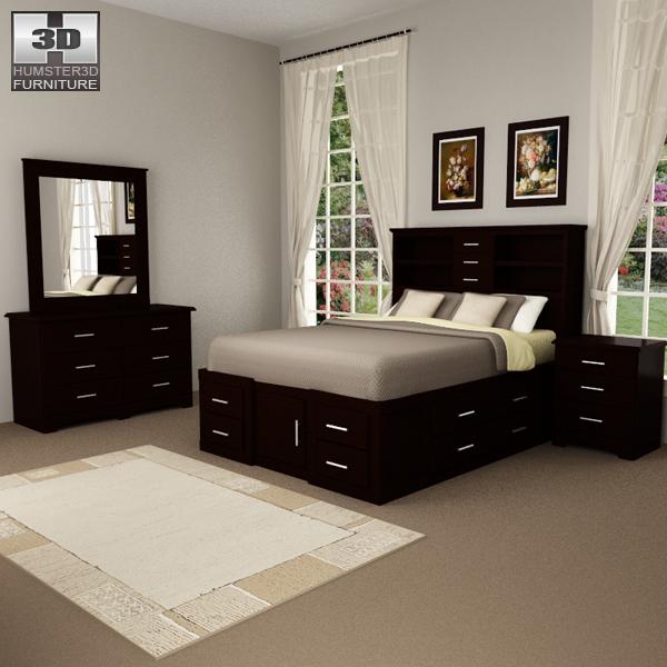 Bedroom Furniture 24 Set 3D model - Furniture on Hum3D on Bedroom Models  id=97558