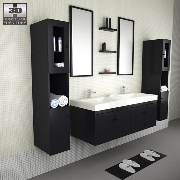 Bathroom Furniture 08 Set 3D model - Furniture on Hum3D on Bathroom Model Design  id=16208