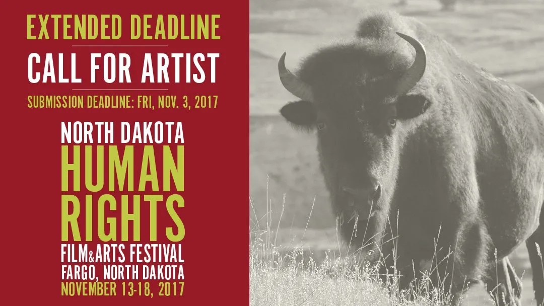 Press Release: Deadline Extended for 2D, 3D and Performance Artist for North Dakota Human Rights Arts Festival