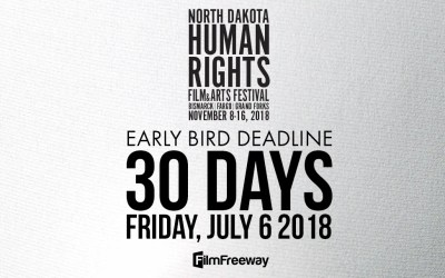 Early bird submission rates end on July 6 for #NDHRFF18