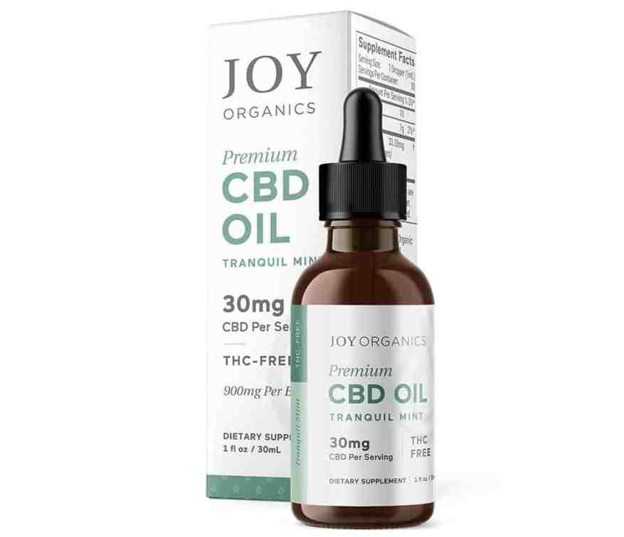 Joy Organics Premium CBD oil tinctures