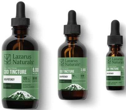 Lazarus Naturals CBD Oil_tincture_family_highpotency