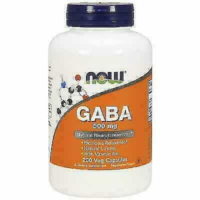 NOW Foods GABA 500mg Vegetarian Capsules
