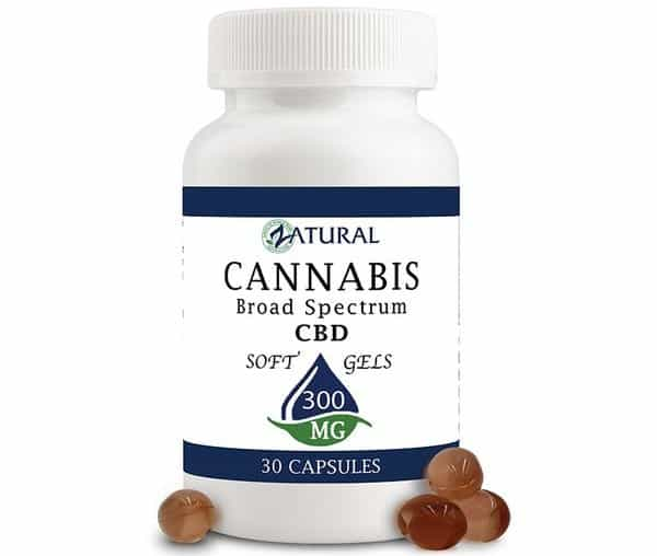 Zatural CBD Edibles Softgels Nano