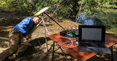 Portable sensor detects biomagnetic signals in noisy outdoor environments