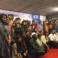 Prof. B. D. Doshi with a group of RCA students and faculty who hosted the function.
