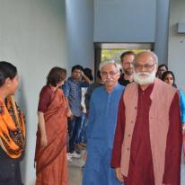 Ar. Rajeev Kathpalia and Ar. Radhika Kathpalia - Doshi arriving for the function.
