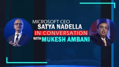 Photo of Microsoft CEO Satya Nadella In Conversation With Mukesh Ambani