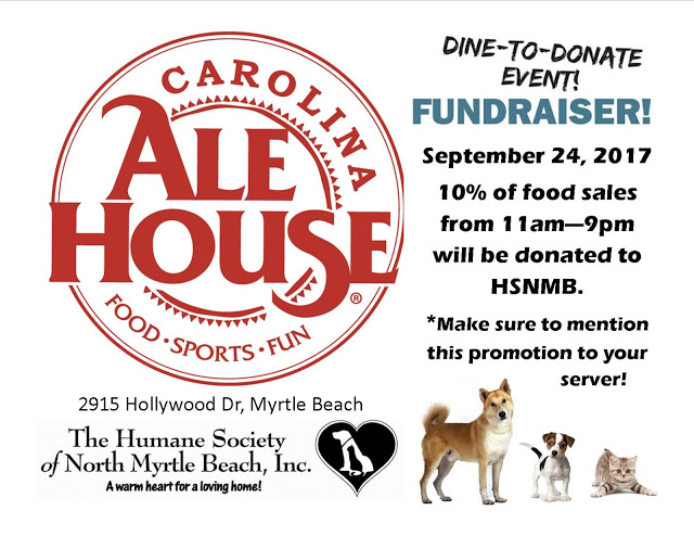 Carolina Ale House Dine to Donate Event September