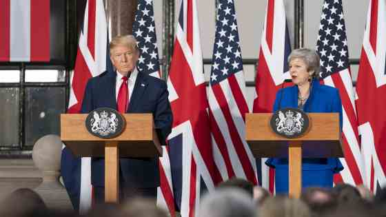 During Trump's UK visit, he participates in a joint press conference with British Prime Minister Theresa May at No. 10 Downing Street in London | June 4, 2019