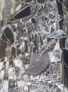 image dessins sur mur