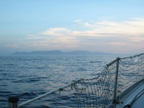 La mer vue depuis le bateau !