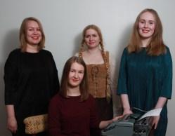 Käsikirjoitus: Katja Rossilahti, Katri-Elina Heikkinen, Sini Helminen ja Alli Wartiovaara (kuva Anniliina Lassila)