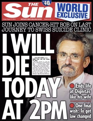 The front page of today's Sun features Bob's case.