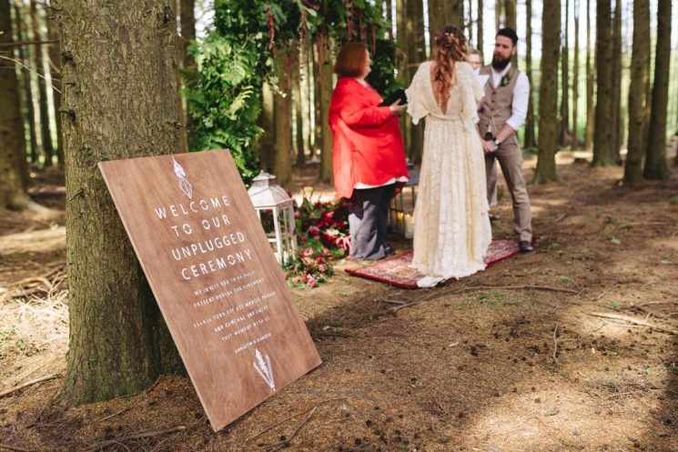 Outdoor humanist wedding photo by Simple Tapestry