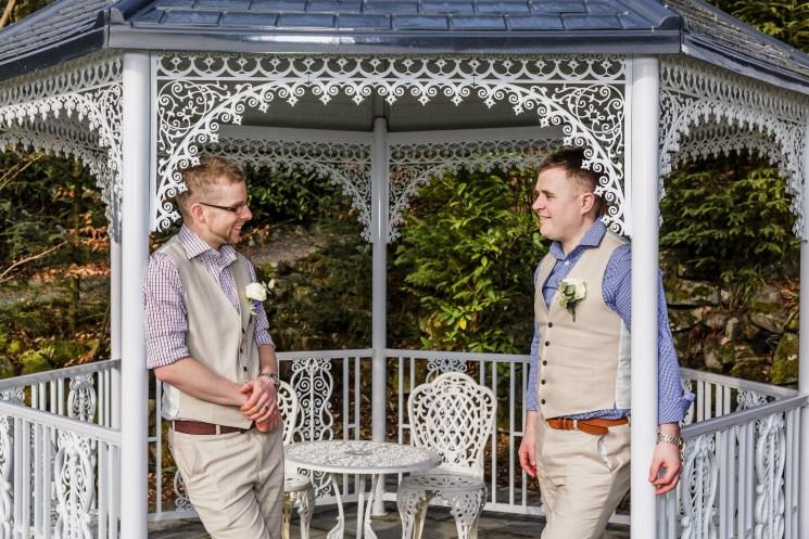 Wedding gazebo, same-sex wedding, humanist wedding