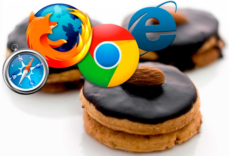 image of cookies and Internet browser logos