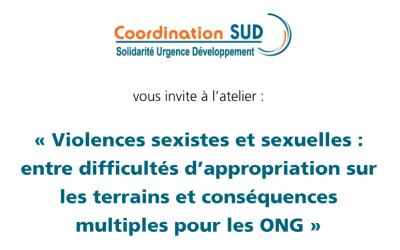 Atelier Coordination Sud sur les violences sexistes et sexuelles