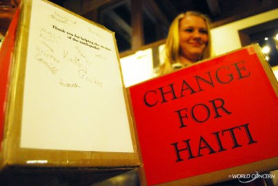 Kristen Kane helped her little brother collect donations for Haiti.