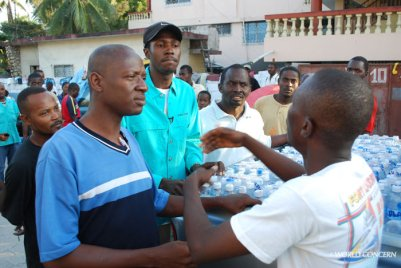 High tension as communities in Haiti need clean water in the days after the 2010 earthquake. A reminder of the humanitarian aid needed for World Water Day.
