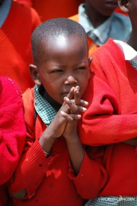 A school boy in Kenya