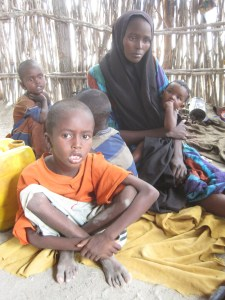 A Somali family affected by the drought.