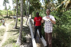 Irrigation canal in rural Haiti.