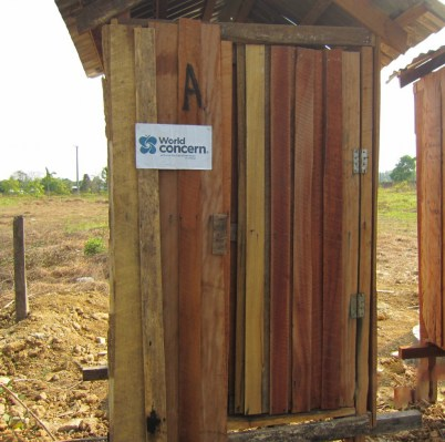 New latrine in Mynamar camp.