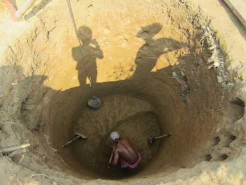 Well being dug.