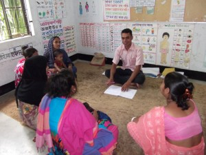 Asad works with parents to help them understand their hearing-impaired children's needs, and learn to communicate with them.