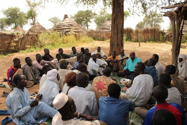 Community members and leaders in the village of Harako, Chad, meet with World Concern staff to share their needs and their goals for transforming their own village.
