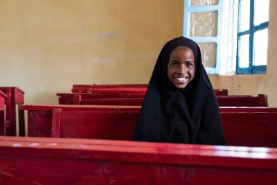 """In school we learned about hygiene—to wash our hands before we eat and to wear shoes when going to the toilets. It is good to do these things because if you don't wash your hands and then you eat something, you will probably get a disease."" - Sahra, 12, student in grade 2"