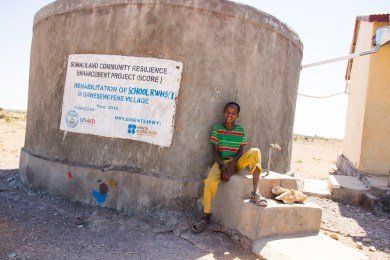 clean water arrives in Somalia
