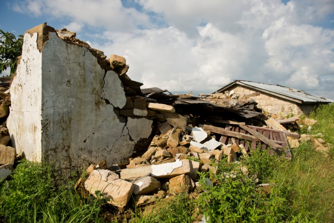 Homes were in ruins, leaving families homeless and exposed.