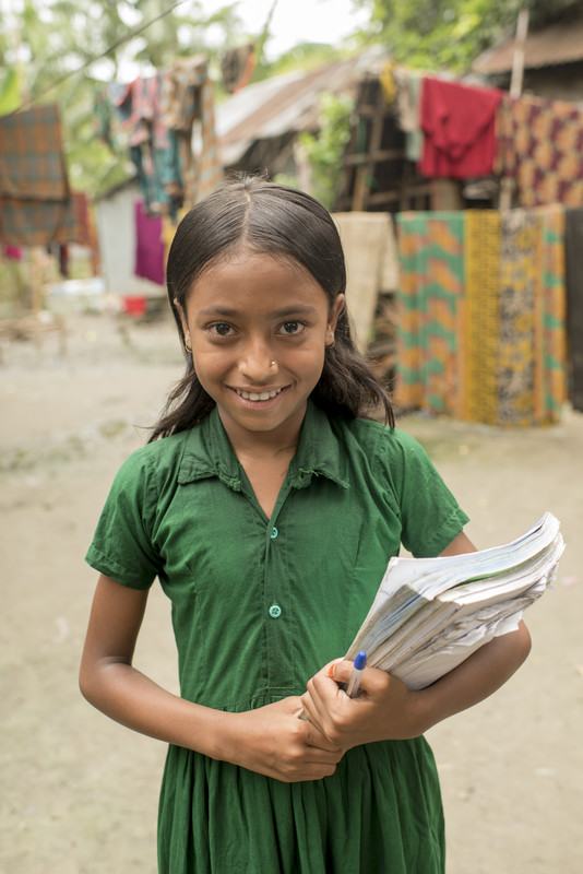 Eva receives education in Bangladesh