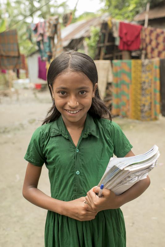 Eva receives education in Bangladesh