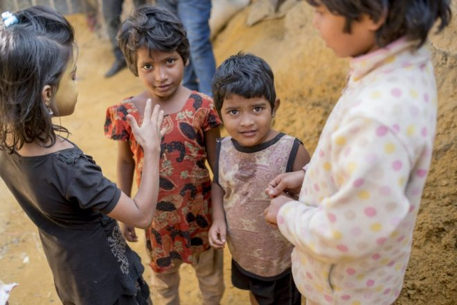 children in the kutupalong refugee camp in bangladesh