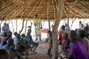 Christians in church in South Sudan