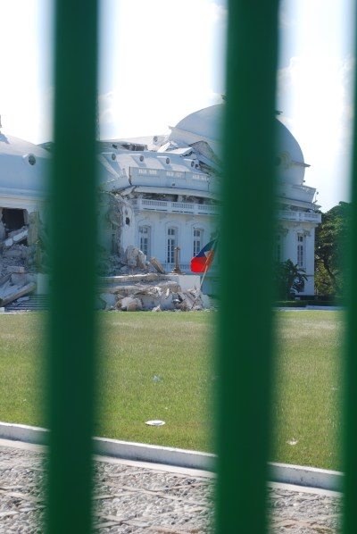 Damaged Presidential Palace