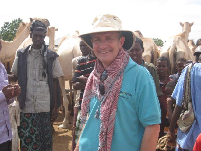 Nick Archer in Somalia.