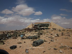 Weapons and debris on the ground in Libya.