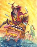 http://www.deviantart.com/#/art/Rincewind-and-Luggage-on-the-run-286071500?hf=1
