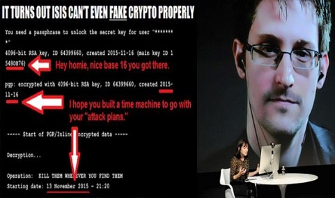 Whistleblower Edward Snowden Claimed 'Encrypted' ISIS Email As a Fake