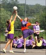 girls pe netball class